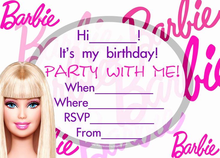 Free Barbie Invitation Templates Inspirational Best 25 Barbie Birthday Invitations Ideas On Pinterest