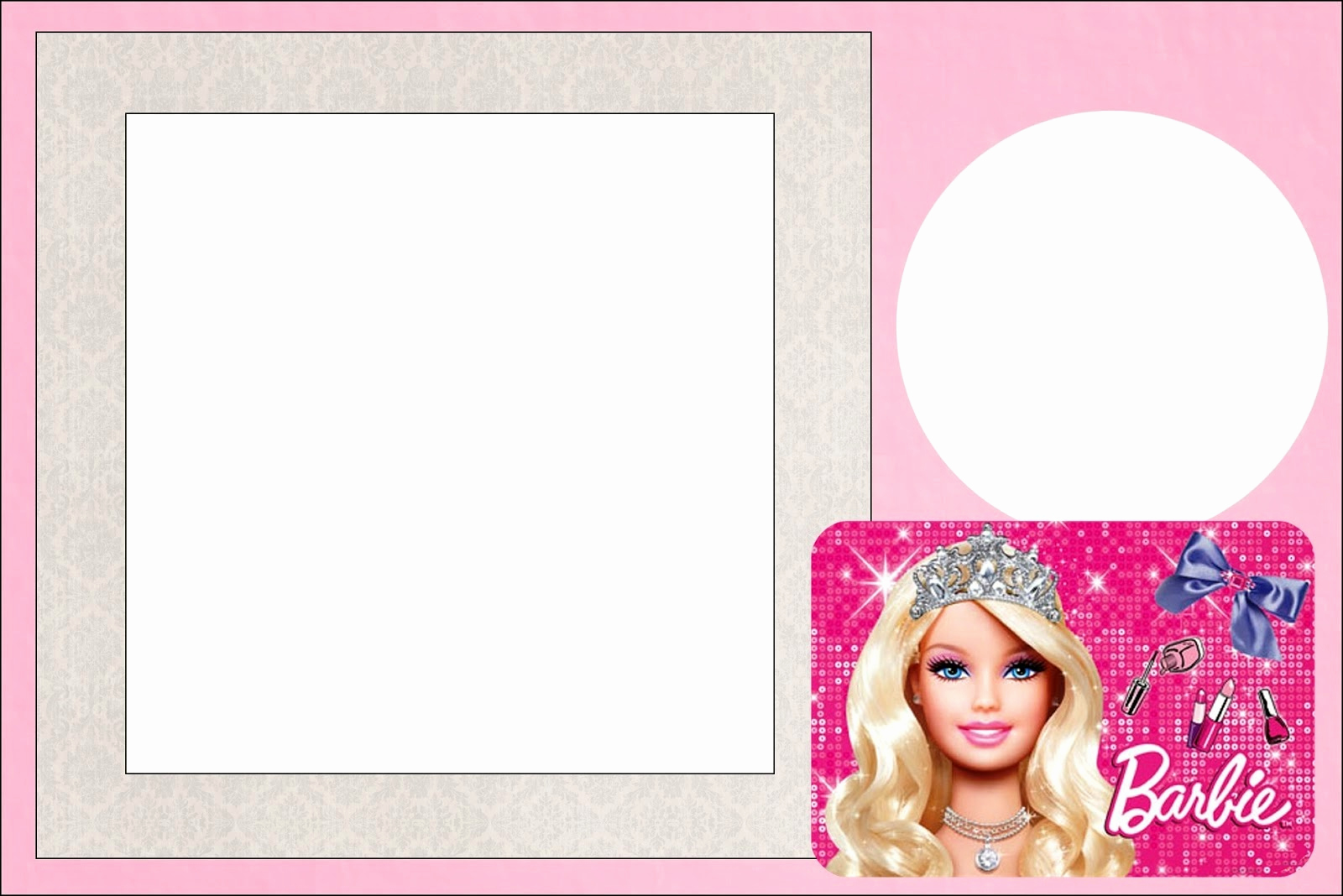 Free Barbie Invitation Templates Luxury Barbie Life Style Free Printable Invitations