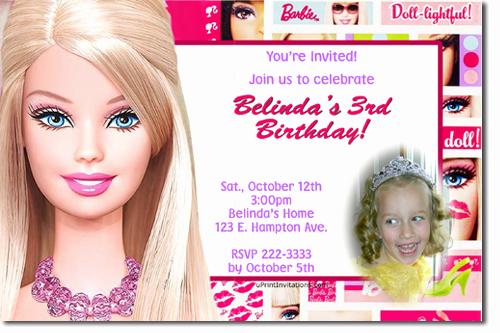 Free Barbie Invitation Templates Unique Barbie Birthday Invitations Ideas – Bagvania Free