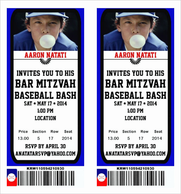 Free Baseball Invitation Template Beautiful 115 Ticket Templates Word Excel Pdf Psd Eps
