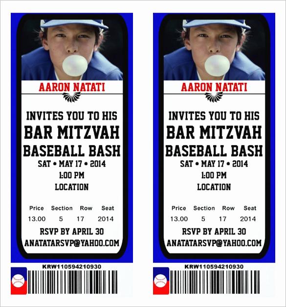 Free Baseball Invitation Template Beautiful 115 Ticket Templates Word Excel Pdf Psd Eps