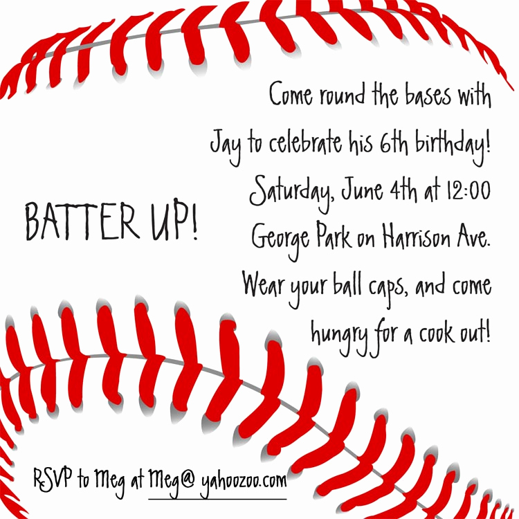 Free Baseball Invitation Template Luxury Baseball Invitation Birthday Greeting Cards by Cardsdirect