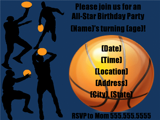Free Basketball Invitation Templates Beautiful 40th Birthday Ideas Birthday Invitation Templates Basketball