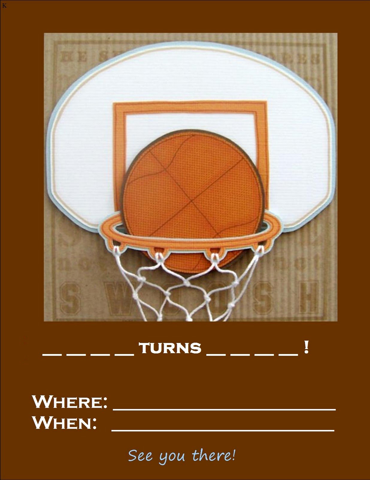 Free Basketball Invitation Templates Beautiful Basketball Birthday Invitations Printable