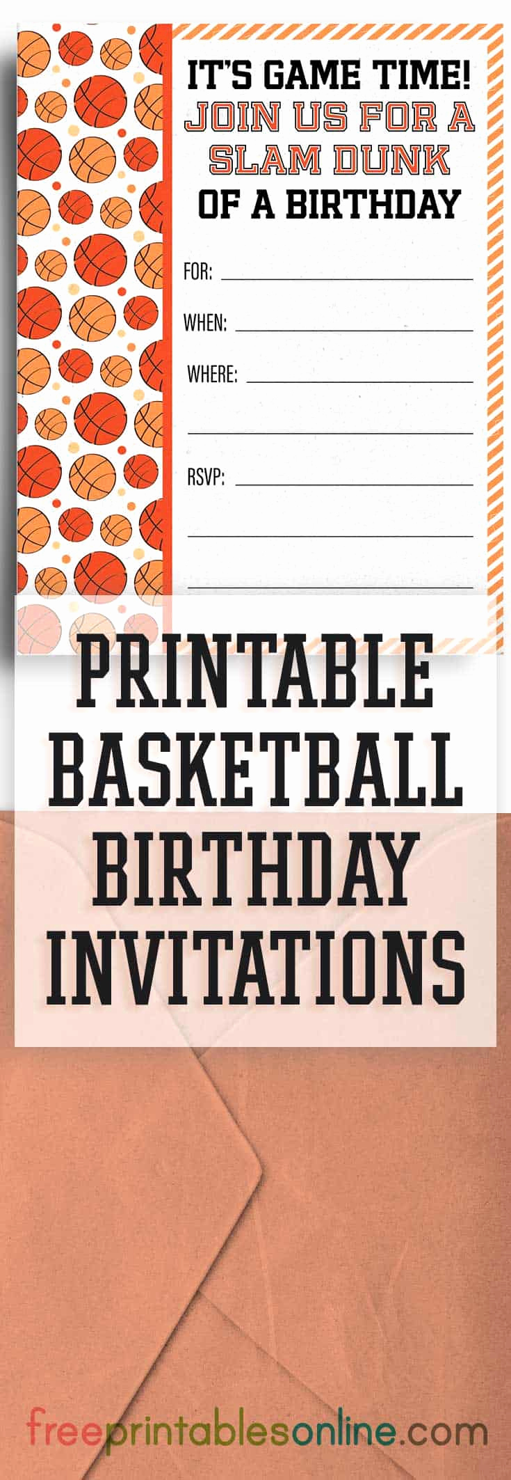 Free Basketball Invitation Templates Beautiful Free Printable Basketball Birthday Party Invitations