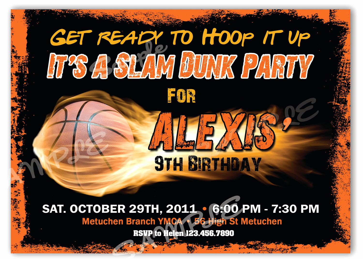 Free Basketball Invitation Templates Best Of Basketball Birthday Invitation Printable File by
