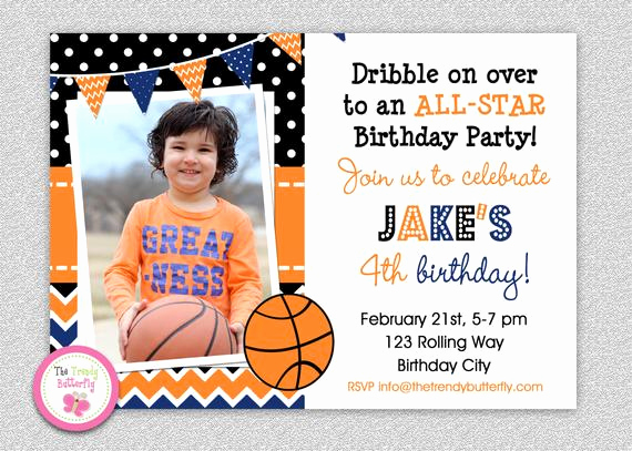Free Basketball Invitation Templates Elegant Basketball Birthday Invitation Basketball Birthday Party