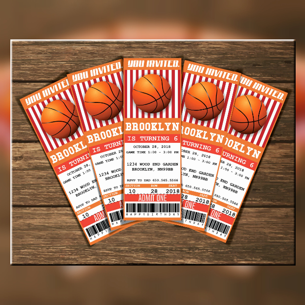 Free Basketball Invitation Templates Inspirational 13 Basketball Ticket Invitation Card Designs & Templates