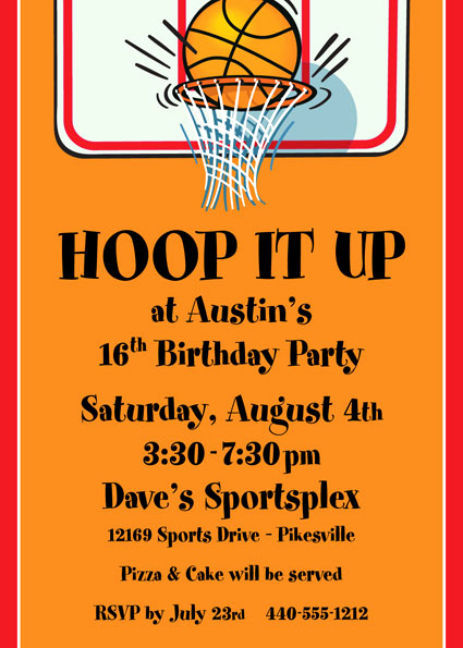 Free Basketball Invitation Templates New Basketball Hoops Invitation