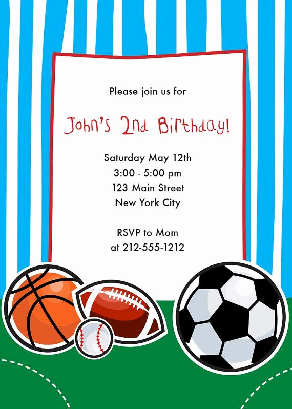 Free Basketball Invitation Templates New Download Free Template Sports themed Birthday Party