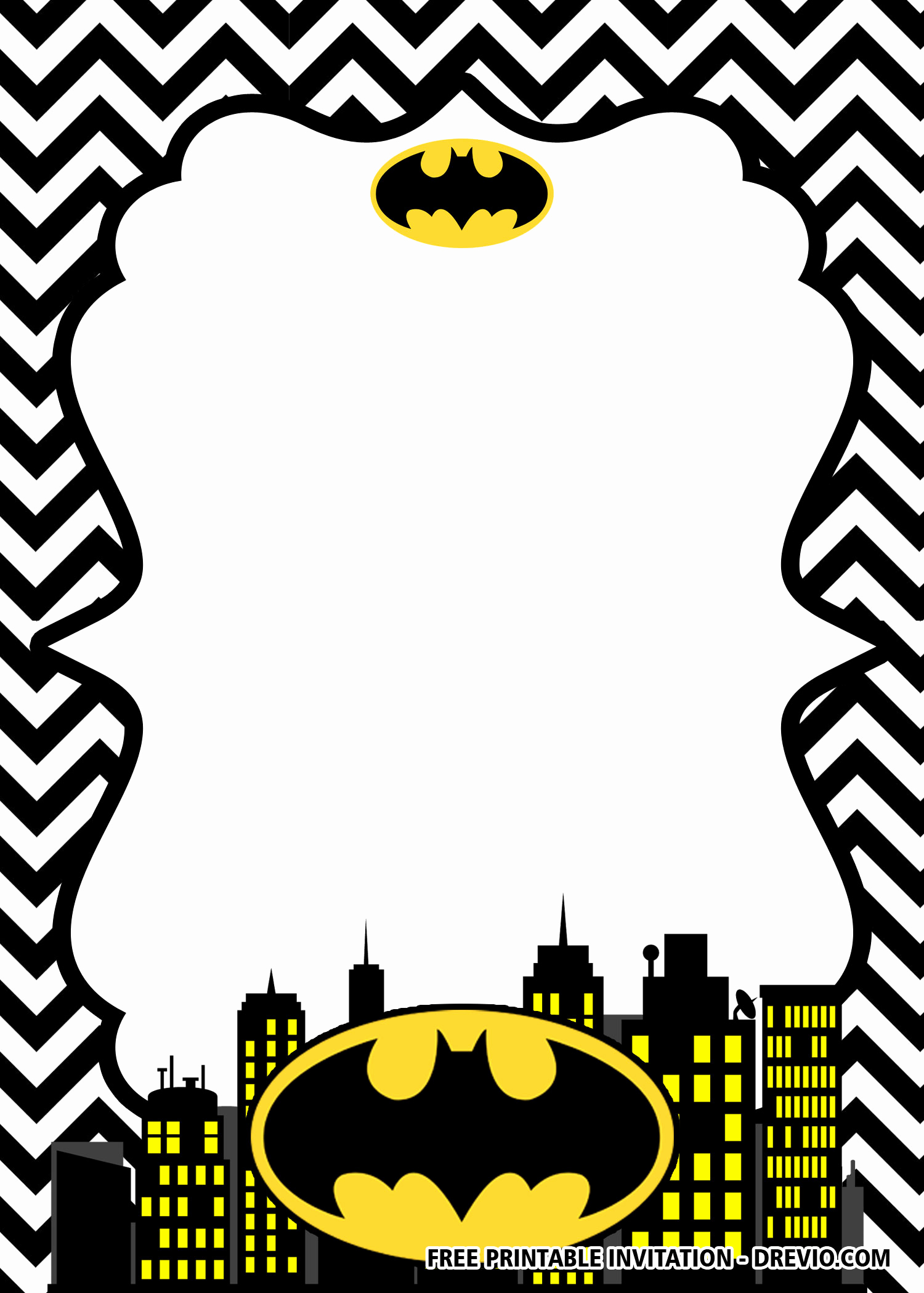 Free Batman Invitation Template Awesome Free Printable Batman Birthday Invitation Templates
