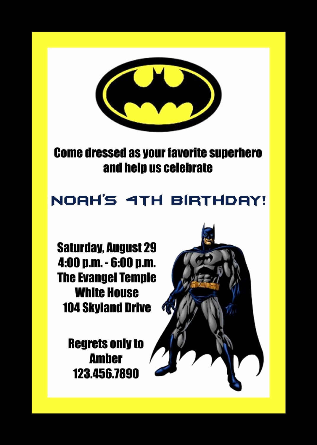 Free Batman Invitation Template Beautiful Batman Party Invitations