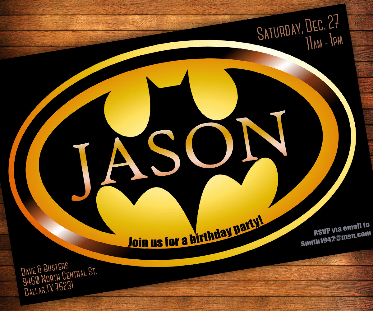 Free Batman Invitation Template Best Of Batman Birthday Invitations Templates Ideas Batman and