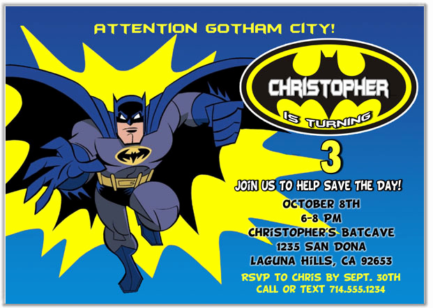 Free Batman Invitation Template Lovely Batman Birthday Party Invitations