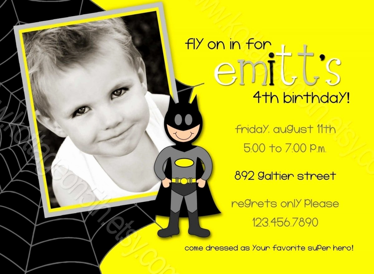 Free Batman Invitation Template Luxury Batman Party Invitations