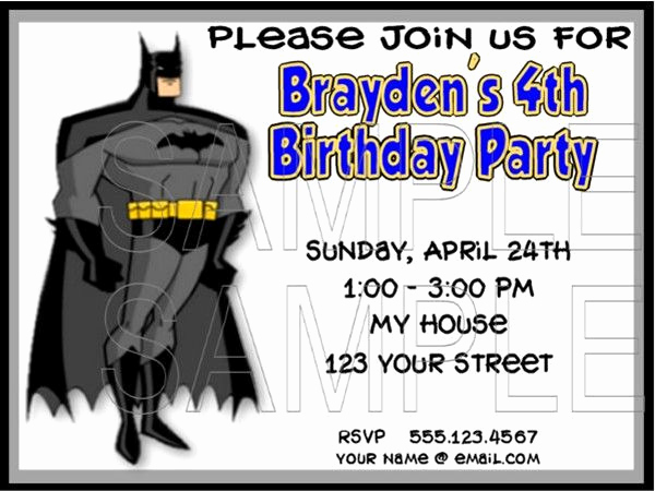 Free Batman Invitation Template Unique 43 Best Boys Birthday Party Images On Pinterest