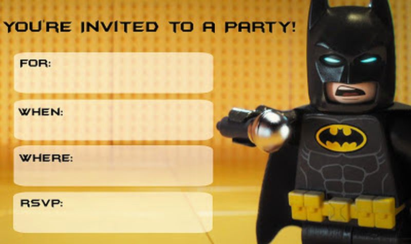 Free Batman Invitation Template Unique Batman Free Printable Invitation Templates
