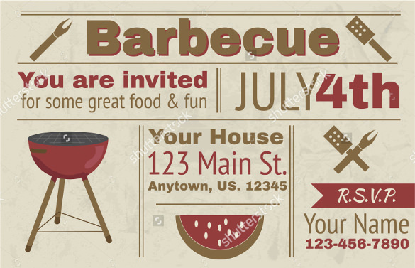 Free Bbq Invitation Template Awesome 32 Barbeque Invitation Templates Psd Word Ai