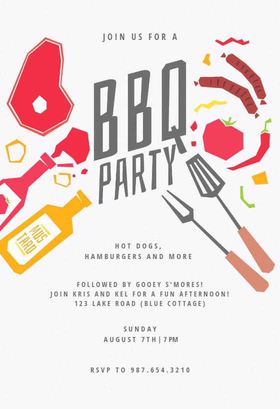 Free Bbq Invitation Template Elegant Summer Night Bbq Party Invitation Template Free