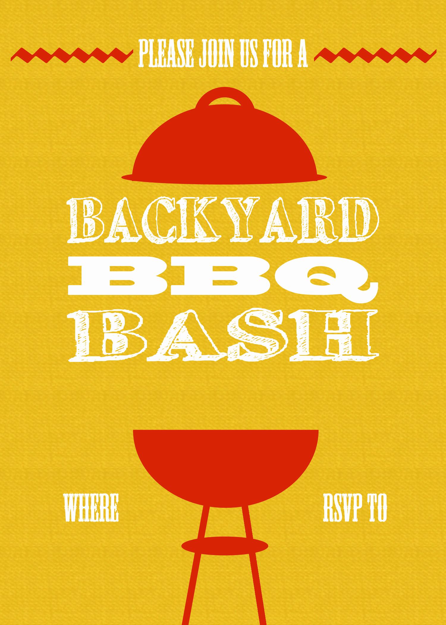 Free Bbq Invitation Template Lovely Diy Printable Backyard Bbq Bash Invite