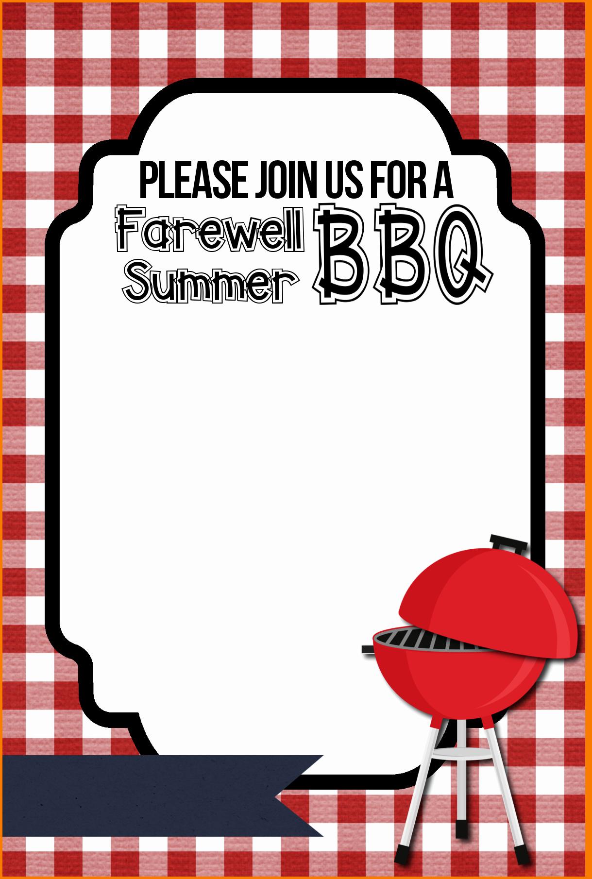 Free Bbq Invitation Template New Bbq Invitation Templatev