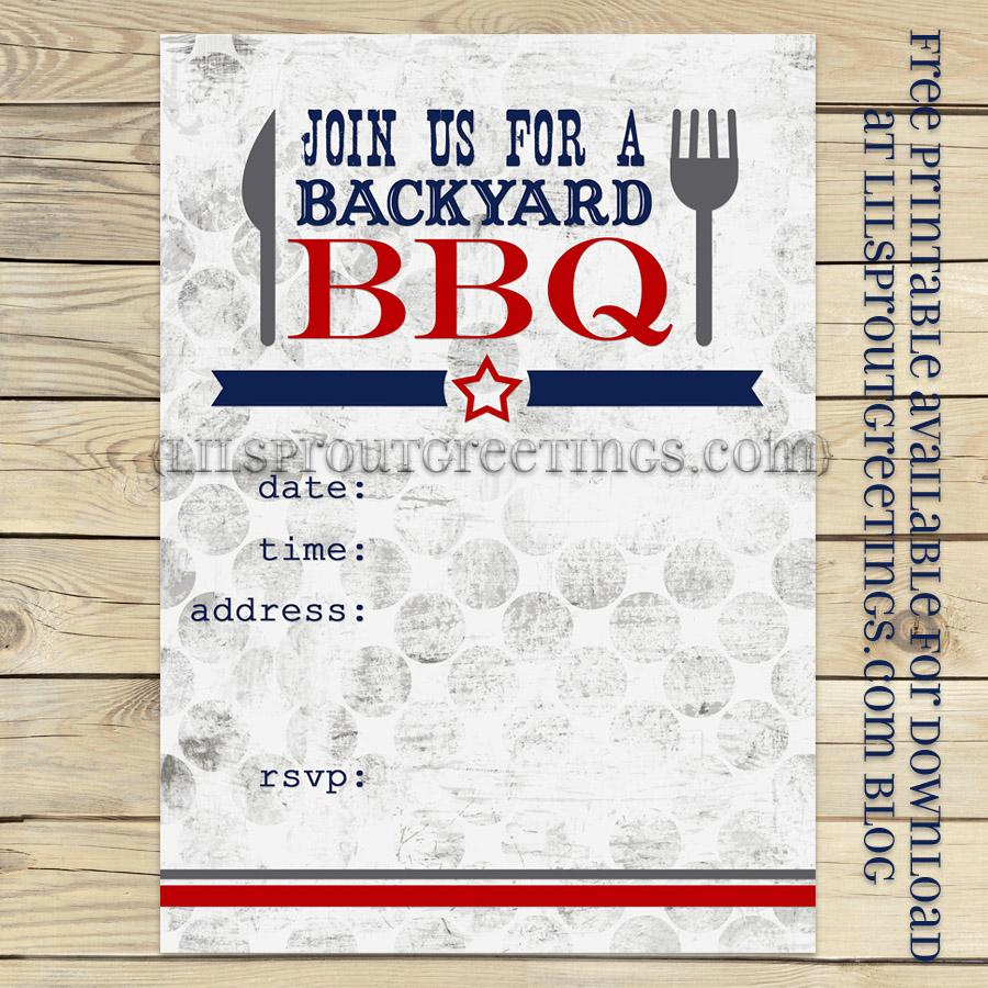 Free Bbq Invitation Template Unique Lil Sprout Greetings Blog – Page 2