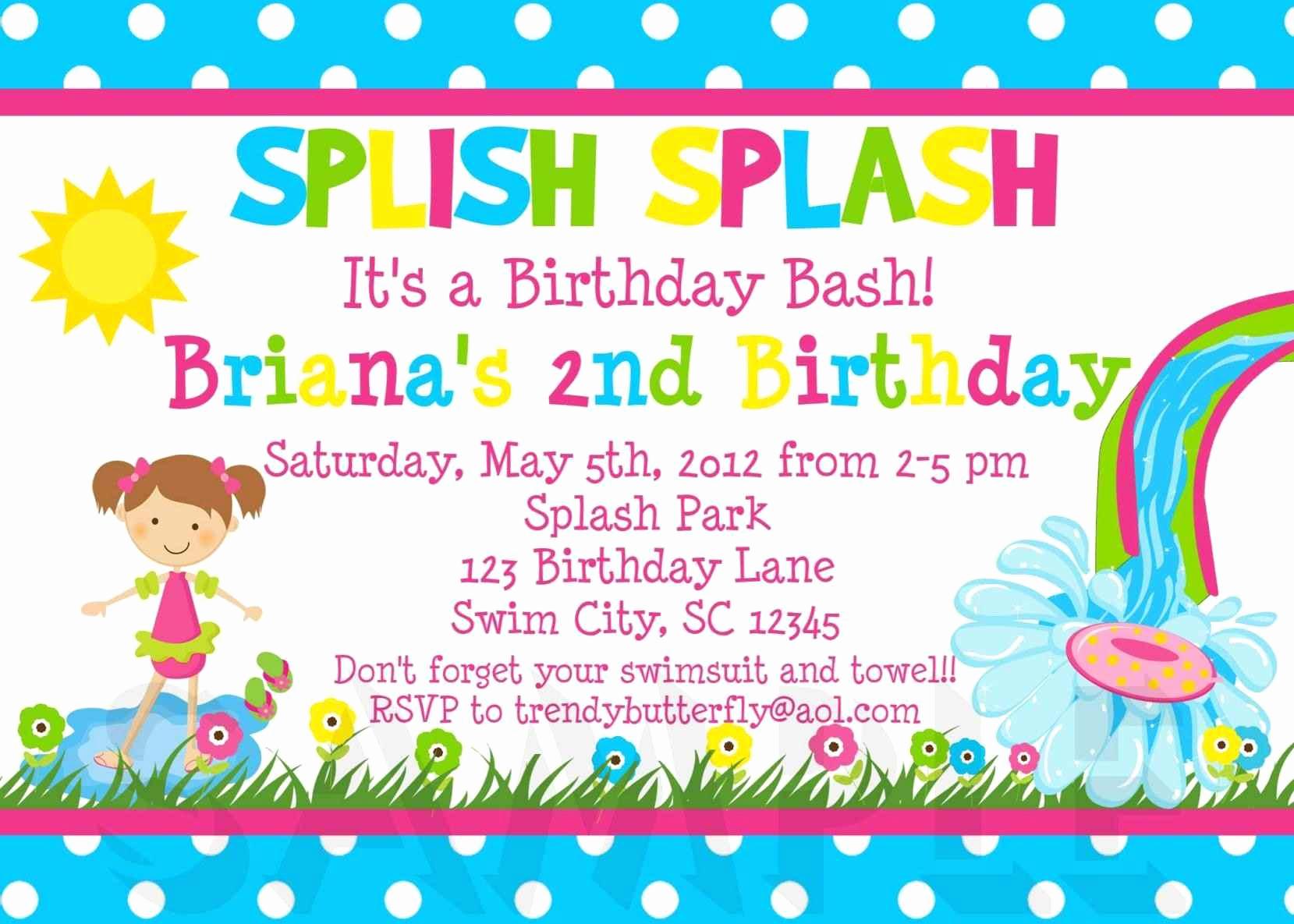 Free Birthday Invitation Templates Beautiful Free Kids Party Invitation Templates Template Update234