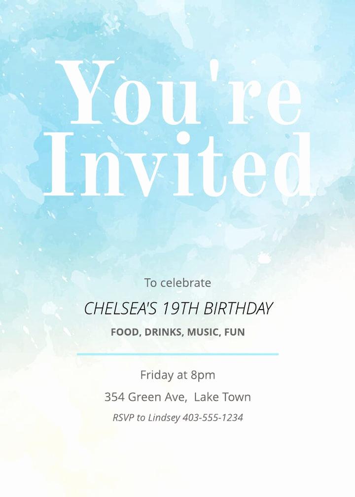 Free Birthday Invitation Templates Beautiful Free Printable Invitation Card Templates