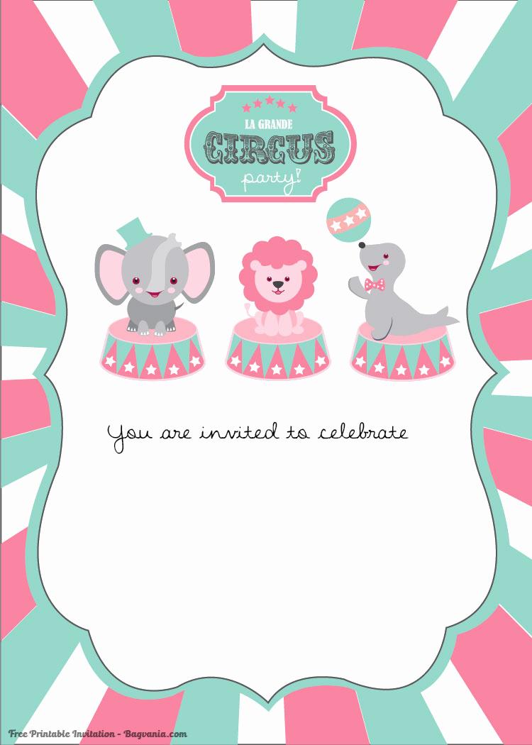 Free Birthday Invitation Templates Best Of Free Printable Circus Birthday Invitations Template – Free