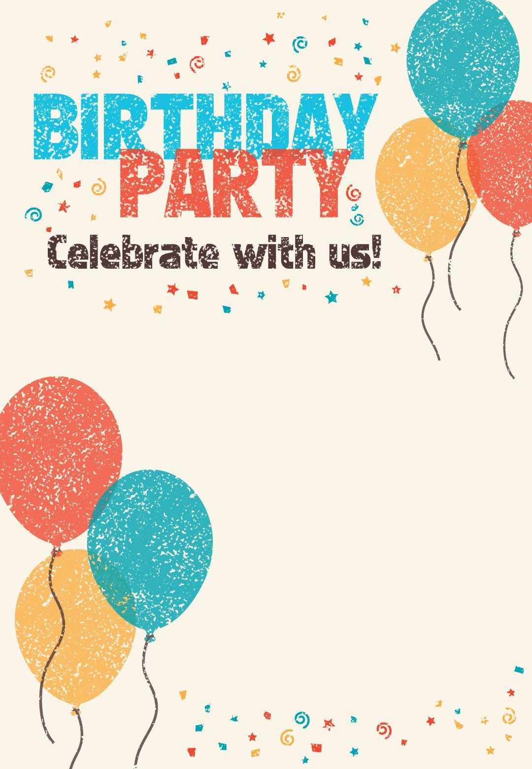 Free Birthday Invitation Templates Elegant Free Printable Celebrate with Us Invitation Great Site