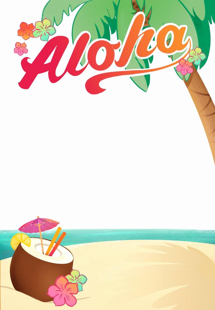 Free Birthday Invitation Templates Elegant Luau Party Free Printable Summer Party Invitation