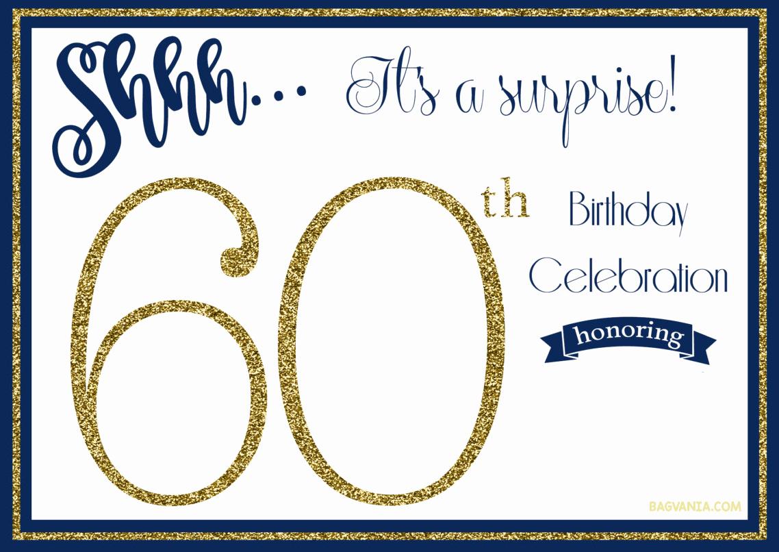 Free Birthday Invitation Templates Fresh Free Printable 60th Birthday Invitations