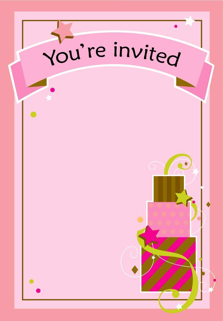 Free Birthday Invitation Templates Fresh Free Printable Girl Fun Birthday Invitation