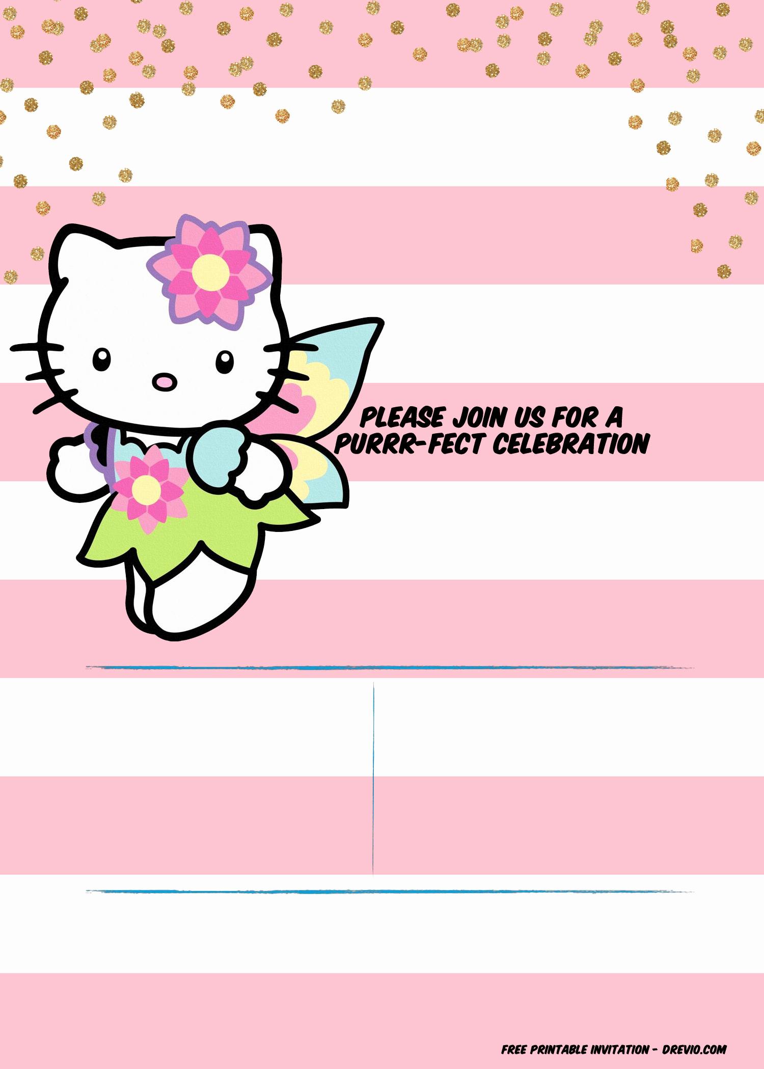 Free Birthday Invitation Templates Inspirational Free Hello Kitty Unicorn Invitation Template – Free