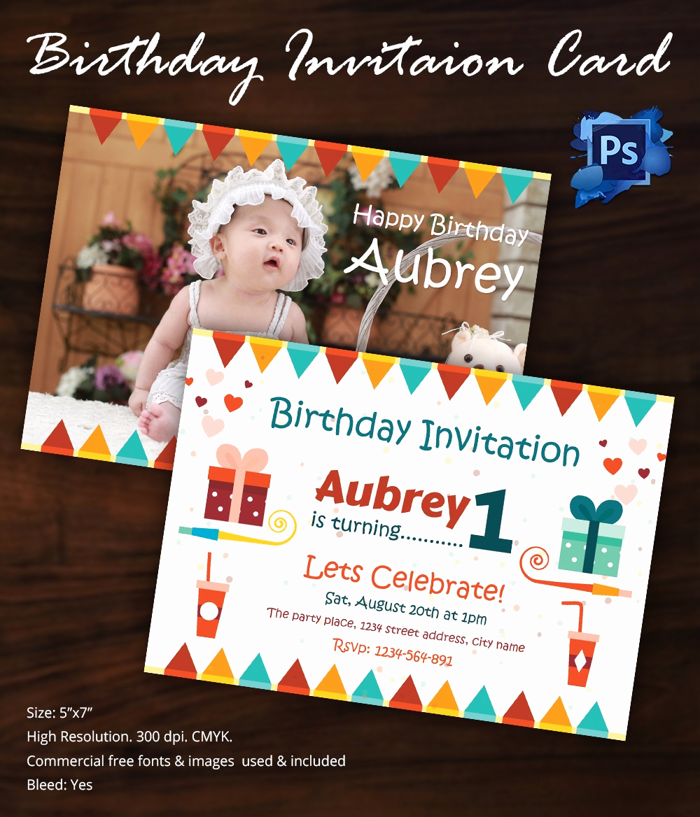 Free Birthday Invitation Templates New Birthday Invitation Template 32 Free Word Pdf Psd Ai