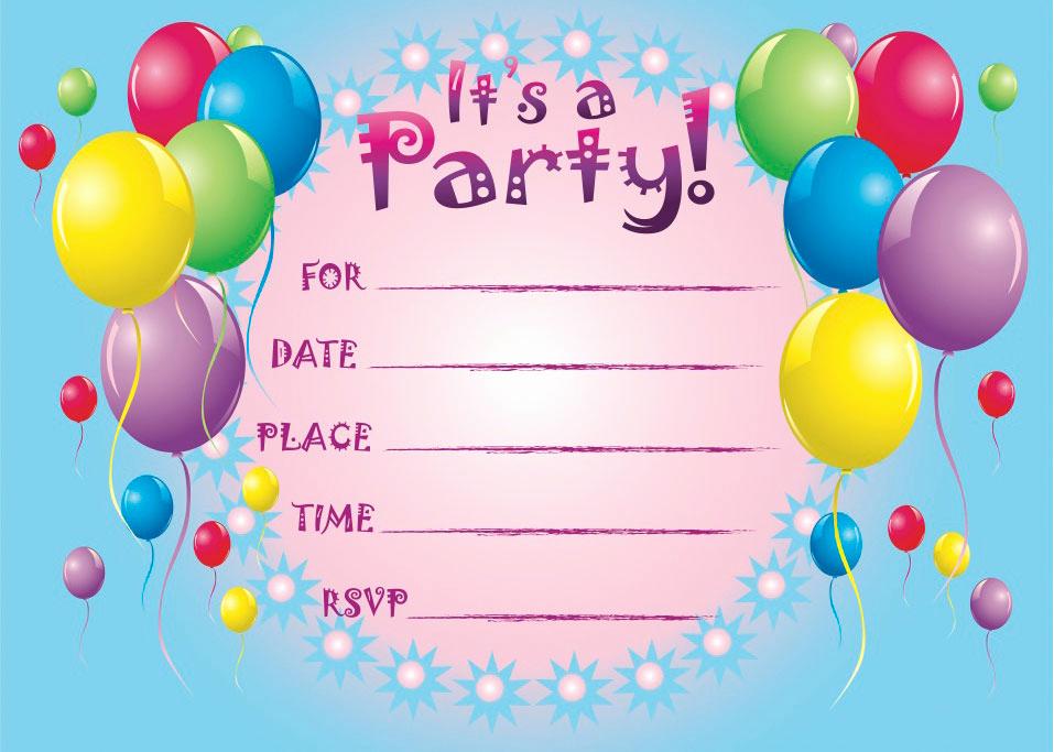 Free Birthday Invitation Templates New Free Printable Birthday Invitation Templates Free