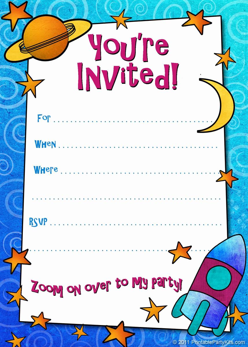 Free Birthday Invitation Templates Unique 18 Birthday Invitations for Kids – Free Sample Templates