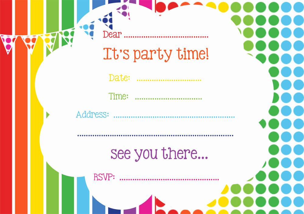 Free Birthday Party Invitation Template Awesome Free Printable Birthday Invitations Line – Bagvania Free