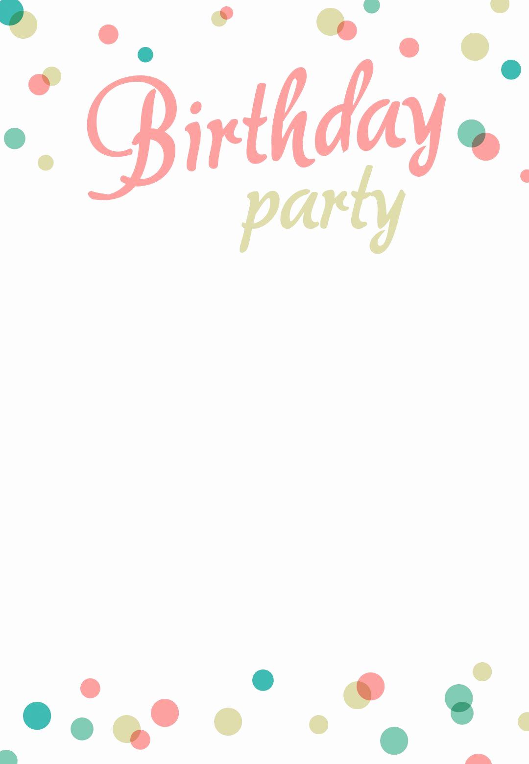 Free Birthday Party Invitation Template Beautiful Birthday Party Invitation Free Printable