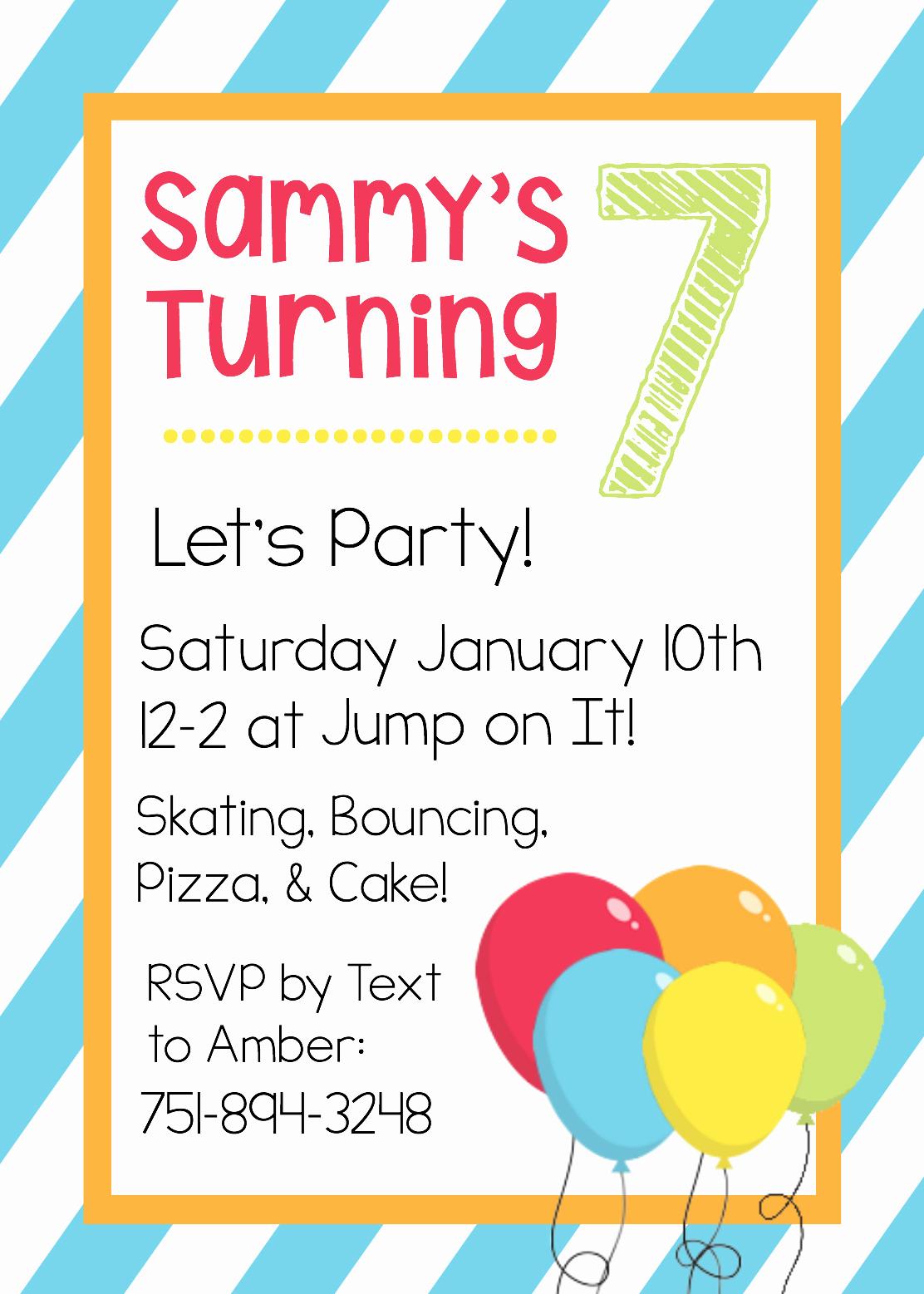 Free Birthday Party Invitation Template Inspirational Free Printable Birthday Invitation Templates