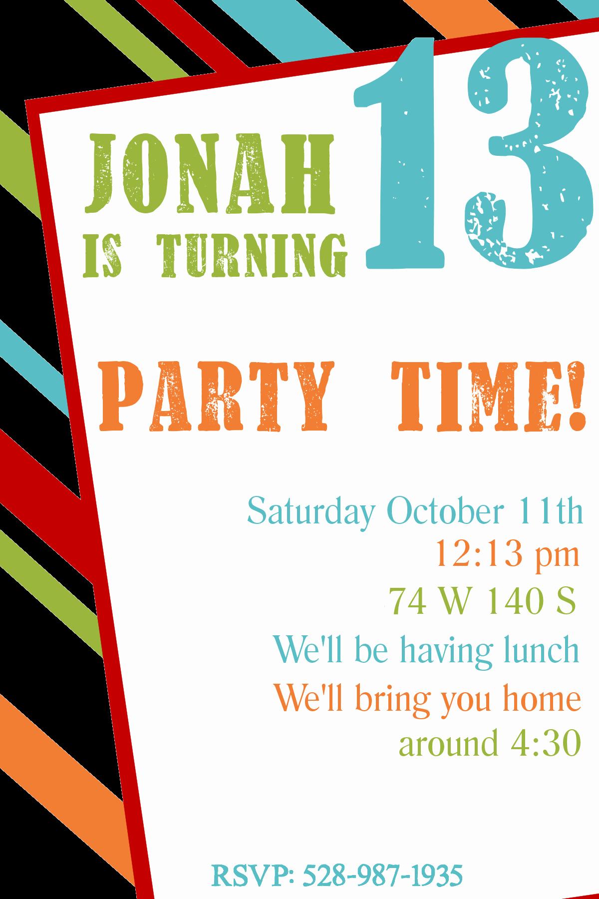 Free Birthday Party Invitation Template New Free Printable Birthday Invitation Templates