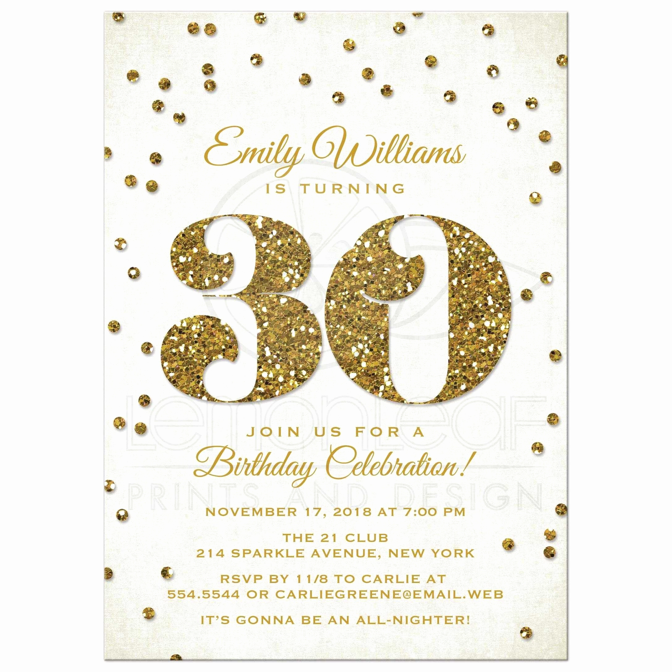 Free Birthday Party Invitation Templates Unique 30th Birthday Invitations Templates Free Printable