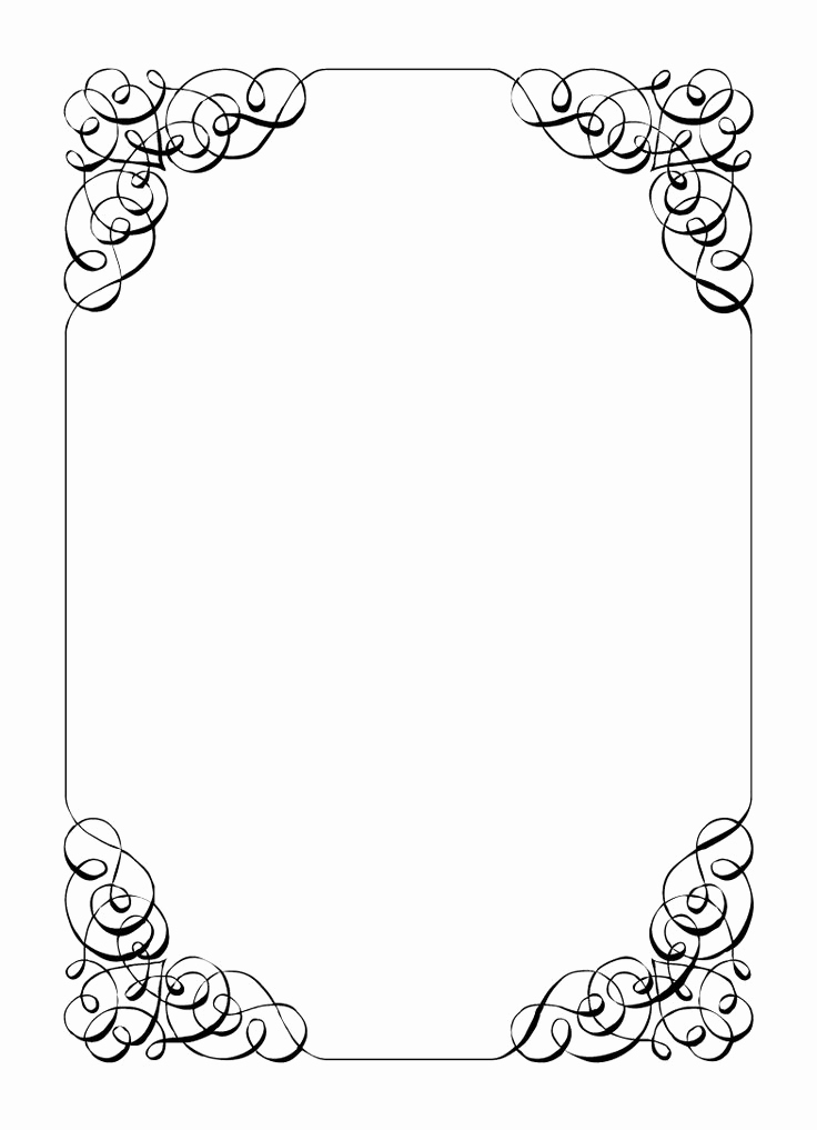 Free Blank Invitation Templates Awesome Borders and Frames