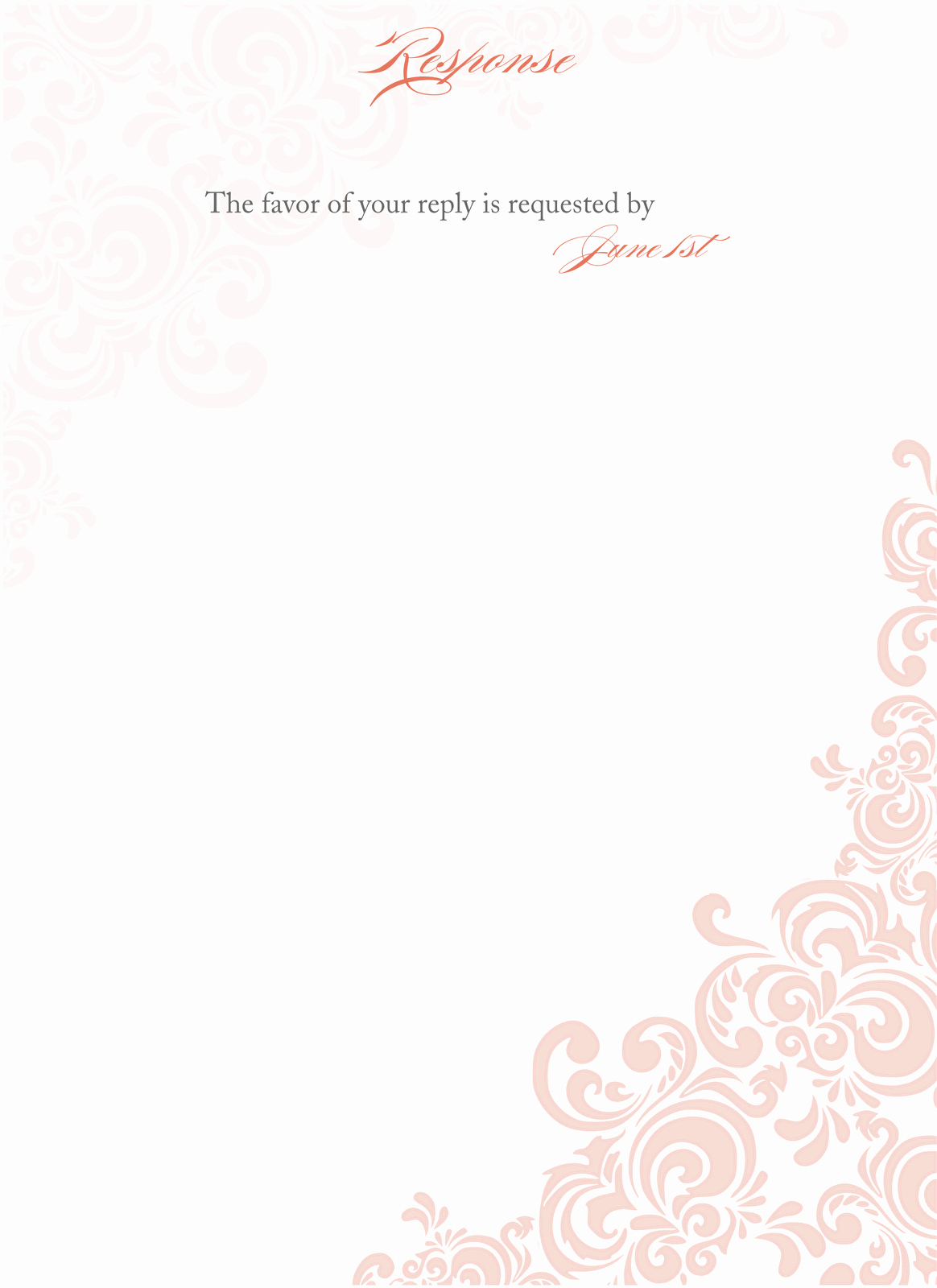 Free Blank Invitation Templates Elegant Floral Blank Wedding Invitation Templates