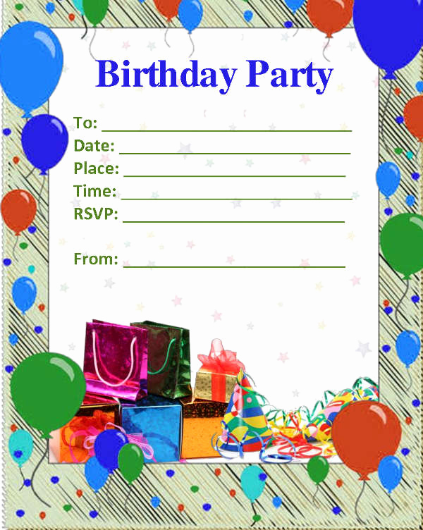 Free Blank Invitation Templates New 52 Birthday Invitation Templates Psd Ai