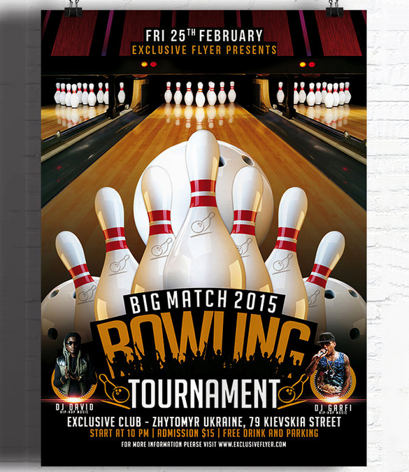 Free Bowling Invitation Template Beautiful 24 Outstanding Bowling Invitation Templates & Designs