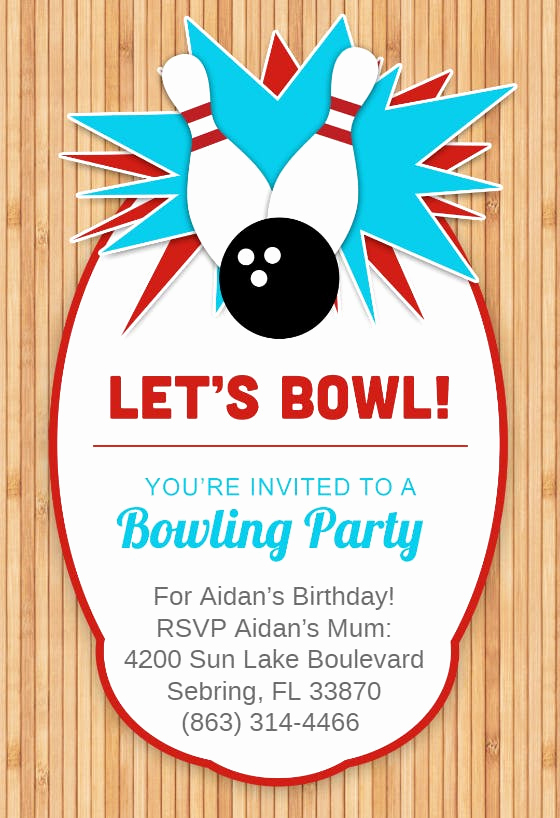 Free Bowling Invitation Template Best Of Bowling Templates