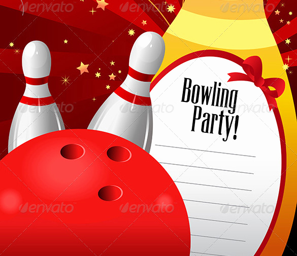 Free Bowling Invitation Template Elegant 24 Outstanding Bowling Invitation Templates & Designs