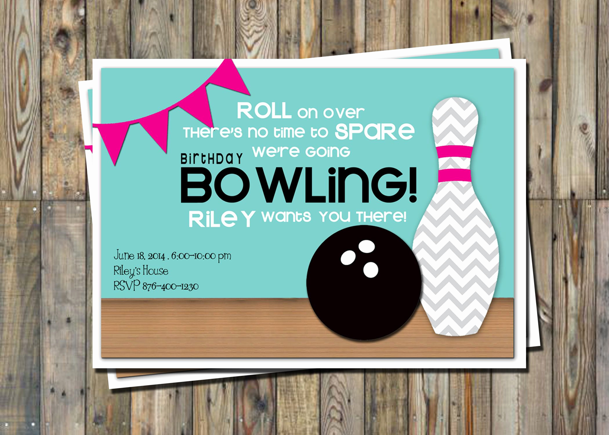 Free Bowling Invitation Template Elegant Cute Bowling Party Invitation Printable Party Pack From