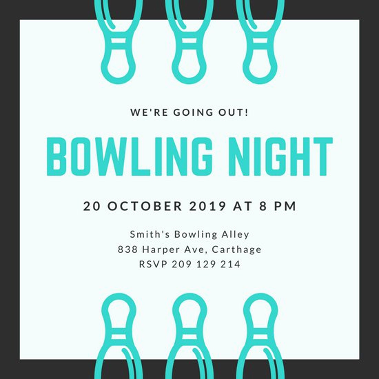 Free Bowling Invitation Template Fresh Customize 75 Bowling Invitation Templates Online Canva